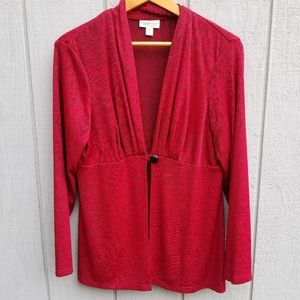 Coldwater Creek Red Cardigan.